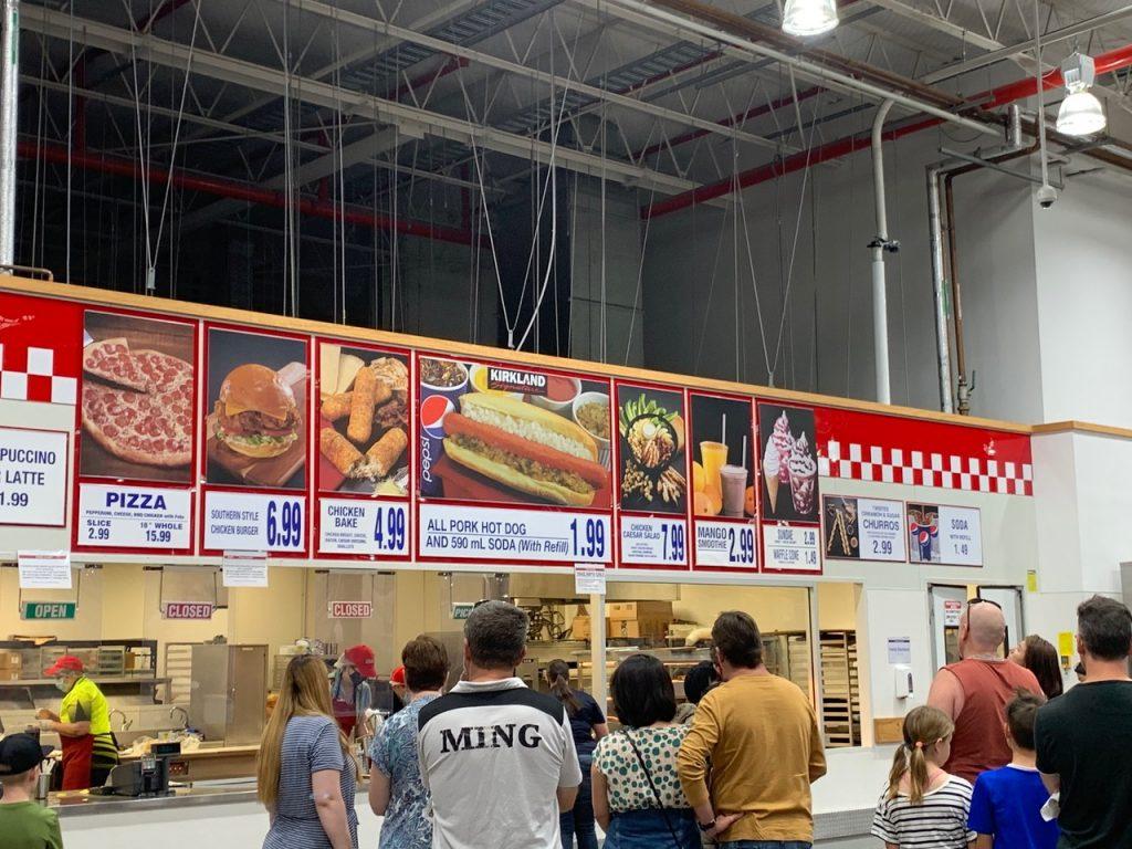 Costco Food Court Menu